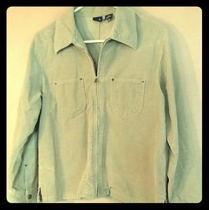 GAP XS Beige Zip Up Corduroy Jacket